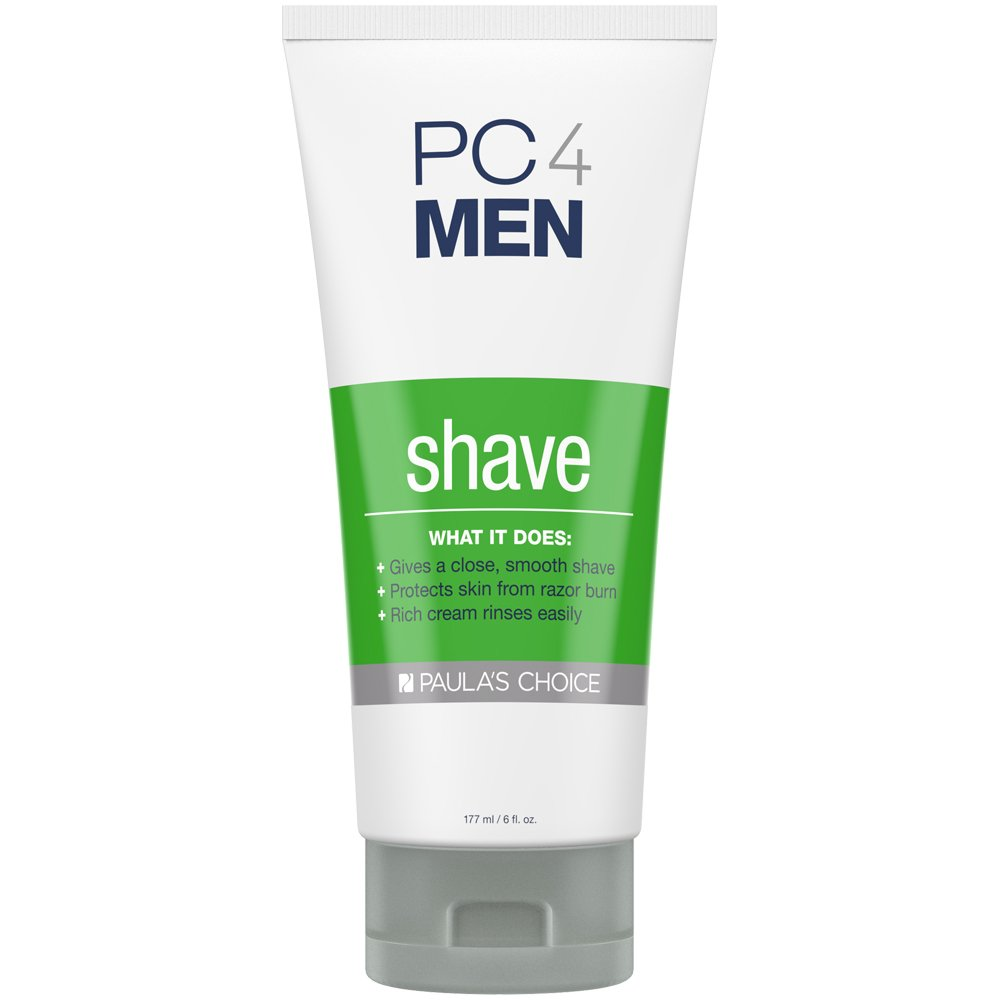 Paula's Choice PC4MEN Unscented Shaving Cream, 6 Ounce Bottle, Fragrance Free for Sensitive Skin Normal Dry Oily and Combination Skin Paula' s Choice