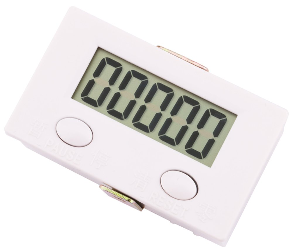 Yeeco 0-99999 Digit Forward LCD Digital Tally Counter Panel Gauge 5-Digit Shockproof Electronic Punch Counter Totalizer Accumulator Tester by Yeeco (Image #3)