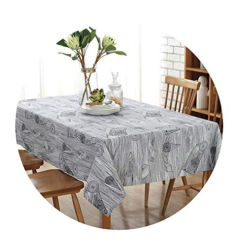 (COOCOl Great Retro Simulation Wood Table Cloth Cotton Fabric Bark Cloth Tablecloth Table Background Cloth,4,140X140Cm)