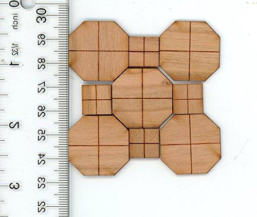 Brodnax Prints Dollhouse Miniature Lemans Cherry Parquet Flooring Kit