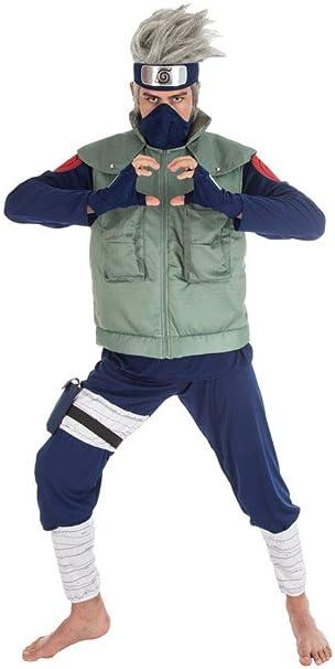 Naruto Disfraz Kakashi Hatake 8 Piezas Azul Verde: Amazon.es: Ropa ...