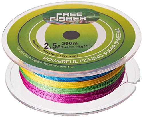 Free Fisher hilo trenzado de pesca Multi-Coloured - Multi-Coloured