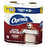Charmin Ultra Strong Clean Touch Toilet Paper, Family Mega Roll, 6 Count