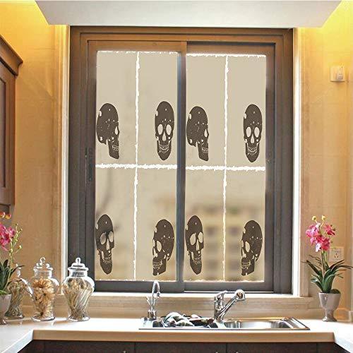 Grunge 3D No Glue Static Decorative Privacy Window