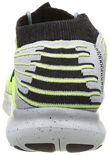 Nike Free Rn Motion Flyknit, Zapatillas de Running para Hombre Gris (Wolf Grey / Black-Volt-Cool Grey)
