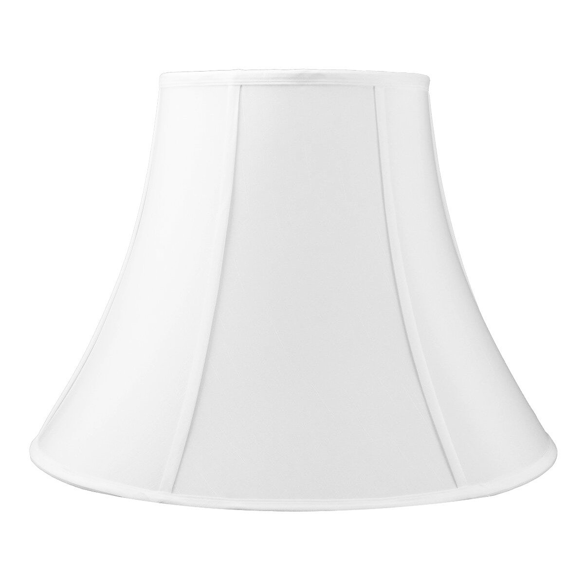10x20x15 White Bell Shantung Shade with Brass Spider fitter by Home Concept - Perfect for table and Floor lamps - Extra Large, White