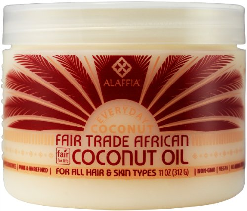 Alaffia Pure Unrefined Coconut Oil. Hydrates Skin and Hair with Restorative Vitamins and Minerals with Coconut Extract… 1 Alaffia Pure Unrefined Coconut Oil. Hydrates Skin and Hair with Restorative Vitamins and Minerals with Coconut Extract. Fair Trade, Cruelty Free, No Parabens, Vegan. 11 Oz HYDRATE, NOURISH & PROTECT. Alaffia coconut oil comes from coconuts grown organically on small family farms. Smooth, creamy texture that absorbs quickly and easily. Unisex and hydrates normal to dry hair, scalp, and skin types. UNSCENTED. For the most sensitive in mind.