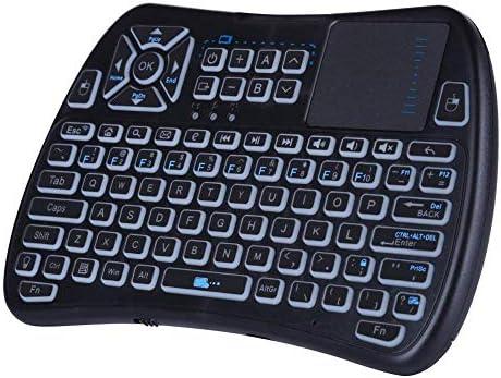 KEZIO Mini Teclado inalámbrico Bluetooth con touchpad, Teclado RGB retroiluminado y Mando a Distancia Universal para Android TV Box, Nvidia Shield TV, Smart TV, Raspberry Pi, Apple TV KP-810-61BT: Amazon.es: Electrónica