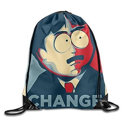 Unisex South Park Change Drawstring Bag Drawstring Backpack Sport Bag Gym Bag 100% Polyester Material Travel Bag For Men Women