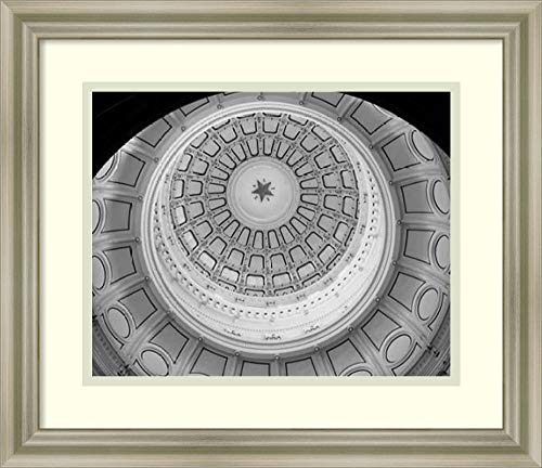 Framed Wall Art Print | Home Wall Decor Art Prints | The Texas Capitol Dome, Austin Texas - Black and White by Carol Highsmith | Modern Decor