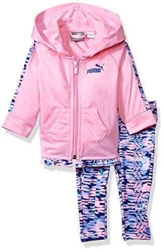 PUMA Baby Girls Track Jacket and Legging Set, Petal Pink, 0-3 Months Puma Girls Jacket