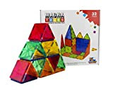 FLYING START Magna Tiles 32 pcs Magnetic Building Blocks Learning and Educational Construction Toys