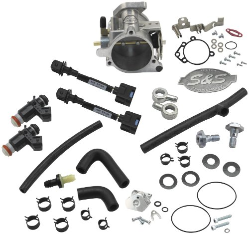 S&,S Cycle S&S Cycle 52mm Single Bore EFI Throttle Body/Fuel Rail Kit 17-5070