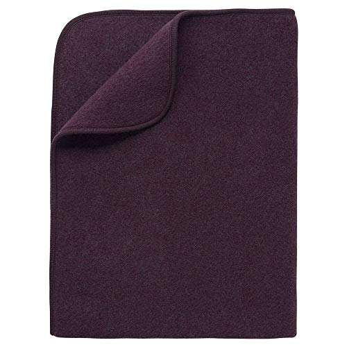 Baby Thermal Blanket: Washable All Weather Merino Wool Receiving Blanket, 31x40 inches (Purple Melange) (Thermal Receiving Blanket Purple)