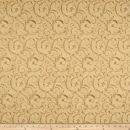 Maywood Studio 108in Beautiful Backing Elegant Scroll Tapestry Fabric by The Yard
