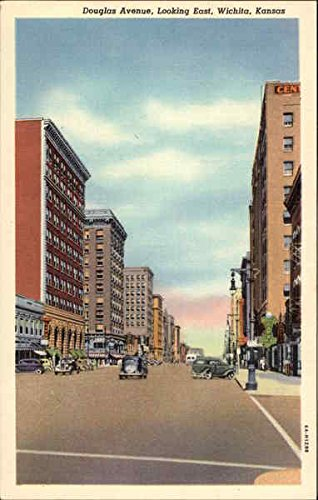 douglas-avenue-looking-east-wichita-kansas-original-vintage-postcard