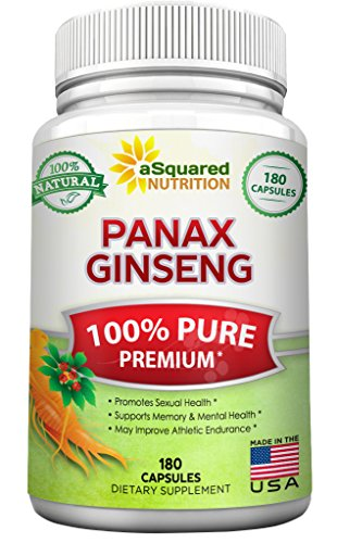 Korean Ginseng Capsules - Pure Red Korean Panax Ginseng (1000mg Max Strength) 180 Capsules Root Extract Complex, Asian Powder Supplement, High Potency Ginsenosides in Seeds, Tablet Pills for Women & Men for Sex & Mental Health