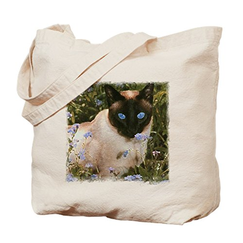 (CafePress Tote Bag - Seal Point Siamese Natural Canvas Tote Bag, Cloth Shopping Bag)