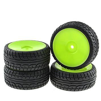 4 x RC rueda de plástico borde concéntricos continúa neumáticos neumáticos para HSP HPI Plano coches: Amazon.es: Juguetes y juegos