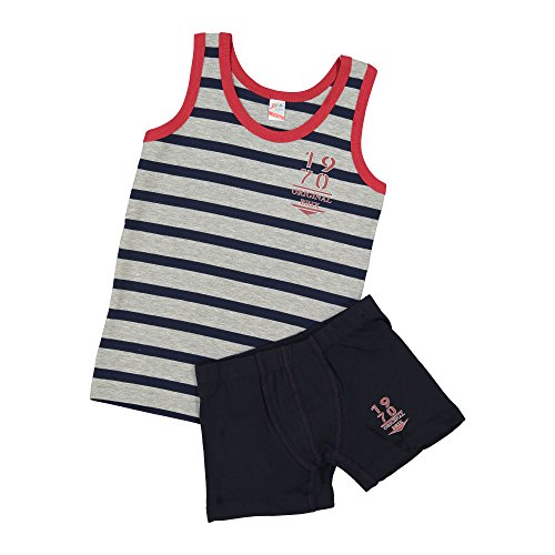 Brix Boys Tank Top and Boxer Super Soft Underwear Covered Elastic Waistband.