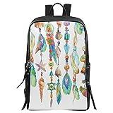 InterestPrint Watercolor Jewelry Sea Shells Beads Office School Laptop Computer Backpack College School Bag Travel Daypack