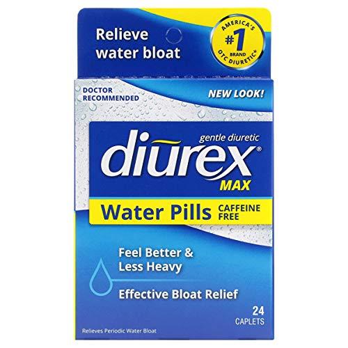 Diurex Max Water Pills – Maximum Strength Caffeine Free Diuretic – Relieve Water Bloat – 24 Count