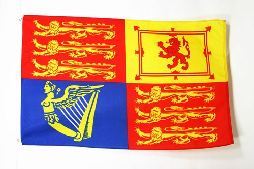 UNITED KINGDOM ROYAL STANDARD FLAG 3' x 5' - UK ROYAL STANDARD FLAGS 90 x 150 cm - BANNER 3x5 ft - AZ FLAG