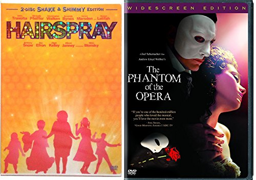 Phantom of the Opera & Hairspray Musical DVD Set Special Edition 2 Disc & Bonus Videos Shimmy Shake (Shake Die)
