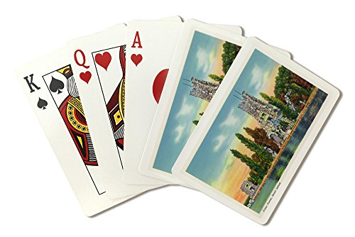 Thousand Islands, New York - Heart Island View of Alster Tower (Playing Card Deck - 52 Card Poker Size with Jokers)