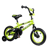 Tauki Kid Bike BMX Bike for Boys and Girls, 12 Inch, Lime, 95% assembled, for 2-5 Years Old, Gift for kids