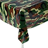 camouflage table cover - Fun Express Camouflage Plastic Tablecover Camo Tablecloth - 54