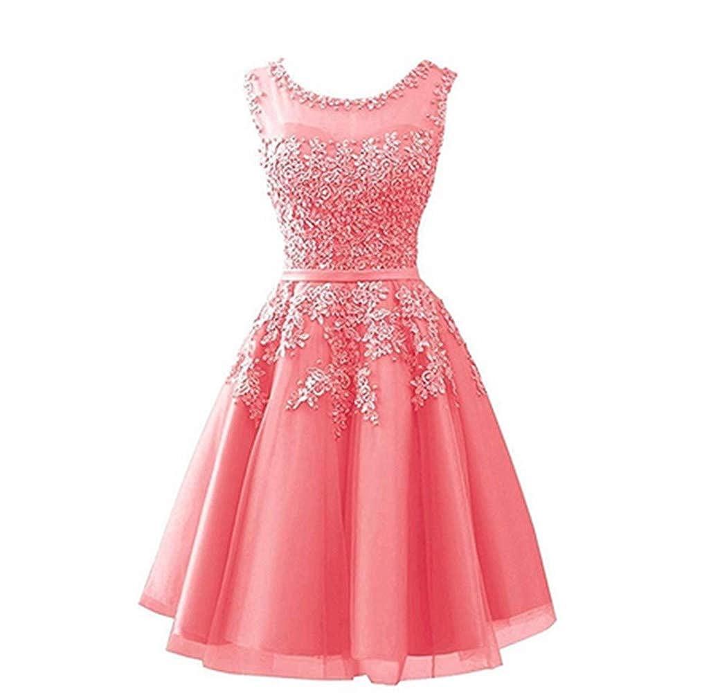 Coral Aiyue Yishen Women's Aline Lace Applique Evening Dress Sheer Long Winter Gala Dress
