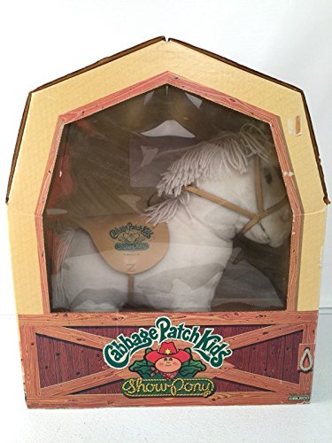 Cabbage Patch Kids Vintage Show Pony White On White Clydesdale Plush - Cabbage Patch Pony