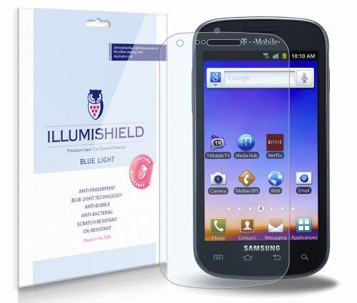 UPC 849899022140, Samsung Galaxy S Blaze 4G Screen Protector [2-Pack], iLLumiShield - (HD) Blue Light UV Filter / Premium Clear Film / Anti-Fingerprint / Anti-Bubble Shield