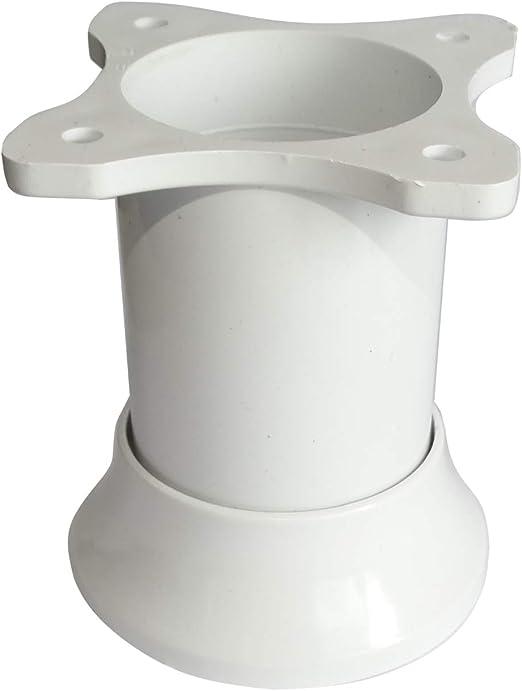 Altura: 80mm, Blanco AERZETIX 4x Patas pies ajustables regulables para muebles /Ø46mm
