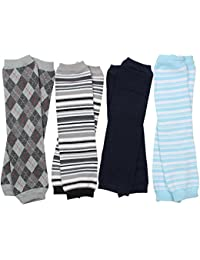 baby Boys Preppy 4 pack of leg warmers