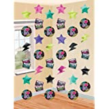 """Amscan Awesome 80's Party String Decorating Kit (6 Piece), Multi Color, 12 x 6.8"""""""