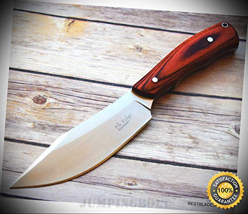 5MM THICK BLADE WOOD HANDLE FULL TANG FIXED BLADE HUNTING SHARP KNIFE - Premium Quality Hunting Very Sharp EMT EDC