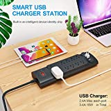 Power Strip, Bototek Surge Protector with 10 AC