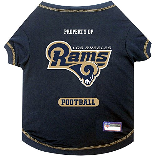 NFL LOS ANGELES RAMS Dog T-Shirt, X-Large. - Cutest Pet Tee Shirt for the real sporty -