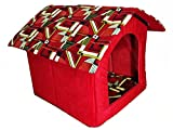 Pets Empire Soft, Warm & Portable Small Dog House (Color & Design May Vary)