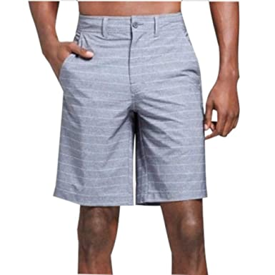 9ebf2bf992 Image Unavailable. Image not available for. Color: Men's Hybrid Swim Shorts  Black Stripe - Mossimo Supply Co