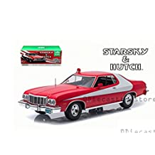 GREENLIGHT 1:18 ARTISAN COLLECTION - STARSKY & HUTCH - 1976 FORD GRAN TORINO (RED CHROME EDITION)