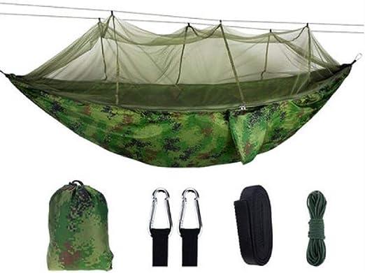 Ccgdgft Hamaca al Aire Libre Doble Mosquito Hamaca, al Aire Libre, Camping hamacas, Jardín Hamaca, Viajes, Caza, de Carga de 300 kg: Amazon.es: Jardín