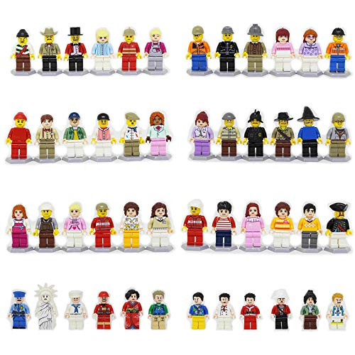 Homecoming Kids 48 Minifigures Building Bricks Community People Accessories, Building Party Toys Gift by Homecoming Kids