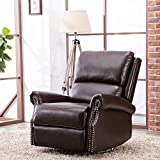 Best Chairs Rocker Recliners - CANMOV Breathable Bonded Leather Swivel Rocker Recliner Chair Review