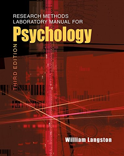 (Research Methods Laboratory Manual for Psychology (with InfoTrac))