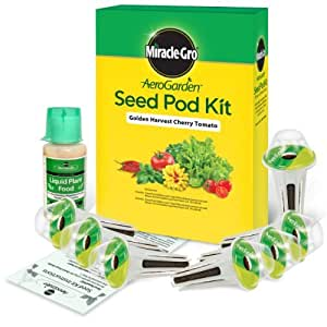 Miracle-Gro AeroGarden Golden Harvest Cherry Tomato Seed Pod Kit (7-Pod) Style: Cherry Tomato Outdoor, Home, Garden, Supply, Maintenance