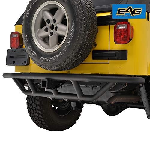 E-Autogrilles 51-0003 EAG Black Rear Bumper Tubular Off Road with 2
