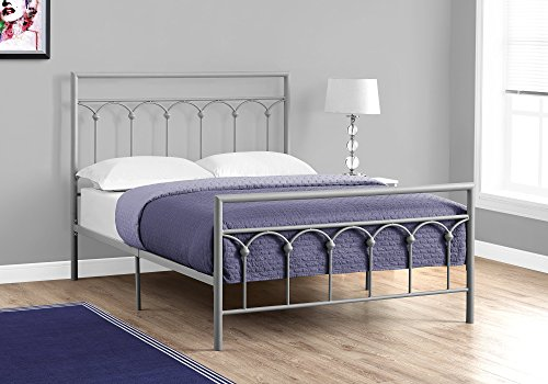 Monarch Specialties I 2656F Bed - Full Size/Silver Metal Frame ONLY ONLY,